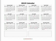 Blank Monthly Calendar 2018 2018 calendar printable