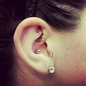 Rook, Tragus & Conch Piercing   Piercings by John the ...