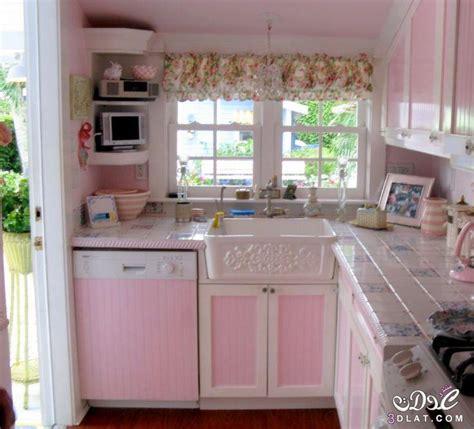 pink vintage kitchen accessories تصاميم مطابخ بسيطة 2017 مطابخ للمساحات الصغيرة ديكورات 4238