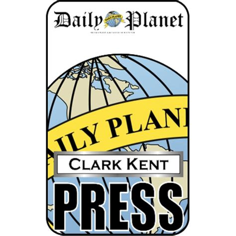 clark kent press pass daily planet halloween pinterest