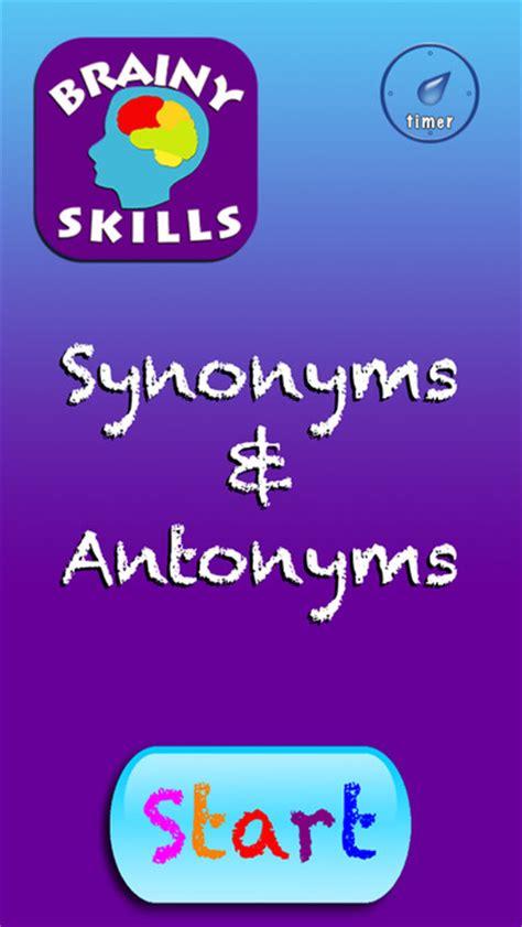 Brainy Skills Synonyms And Antonyms Apprecs