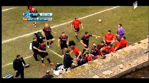 Rugby Fight Spain Vs Georgia Youtube