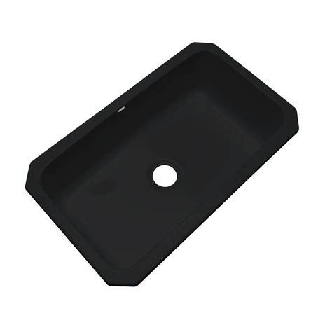 Thermocast Black Kitchen Sinks by Thermocast Manhattan Undermount Acrylic 33 In Single