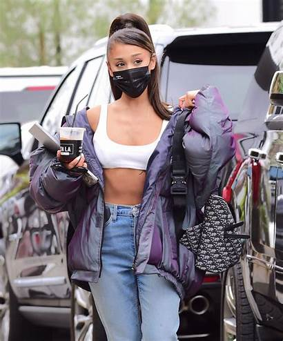 Ariana Grande Studio Recording Angeles Abs Street