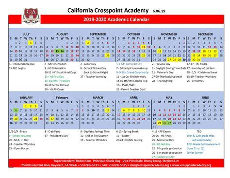 academic calendar crosspoint academy