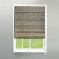 bamboo roman shades Radiance Cordless Driftwood Flat Weave Bamboo Roman Shade - 34 in. W x 64 in. L-2208858E - The ...