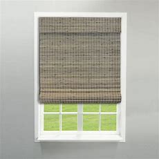 Radiance Cordless Driftwood Flat Weave Bamboo Roman Shade
