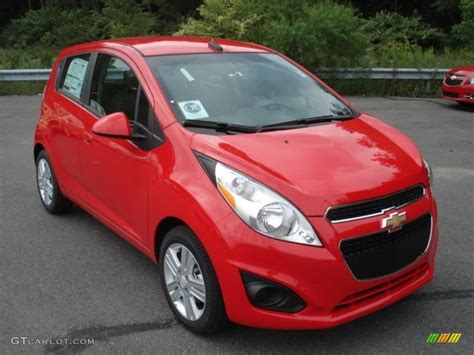 Salsa (red) 2013 Chevrolet Spark Ls Exterior Photo