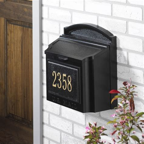 wall mount mailbox whitehall large lockable wall mount mailbox 4612