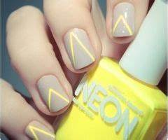 Neon Yellow Triangle Nails s and