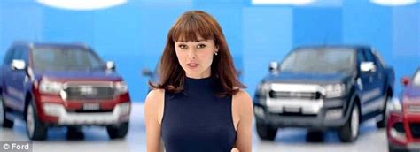 ford commercial actor ford car ngaire dawn fair stuns in new ad daily