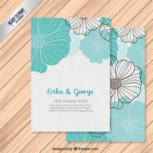 wedding invitation with flowers vector free download With wedding invitation design freepik