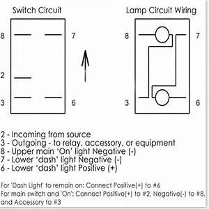 12v Dual Backlit Led Laser Etched Arb Carling Rocker