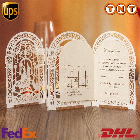 Birdcage Hollow Laser Cut Wedding Invitations Cards