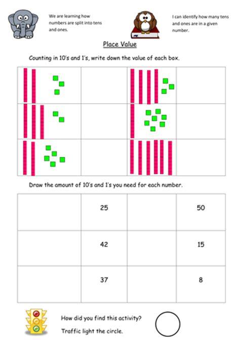 place value dienes worksheet by kristopherc teaching