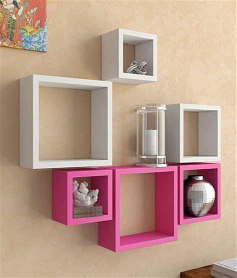 Informa Rak Dinding Minimalis jual rak dinding kotak minimalis satu set warna pink putih