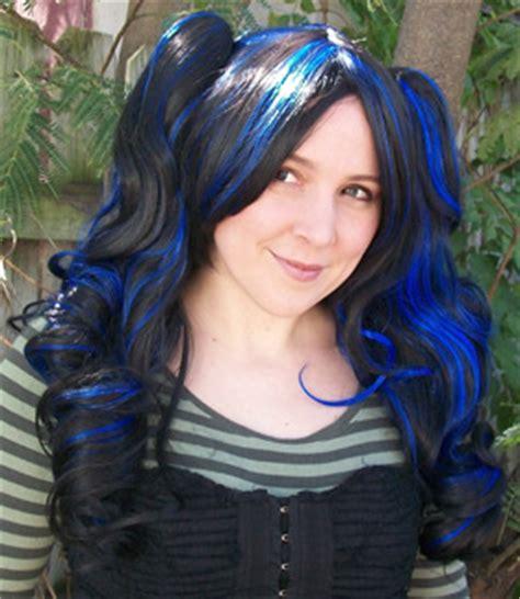 black  blue wig hairturners