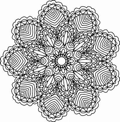Mandala Transparent Clipart Coloring Commercial Hand Drawing
