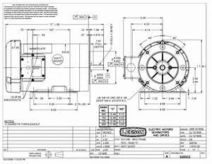 Leeson 116747 Ac Motor 2hp Tefc 1800 Rpm 56c Frame W   Base