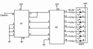 7 segment display counter based 74ls90 electronic With 5 band graphic equalizer using a single ic chip ba3812l