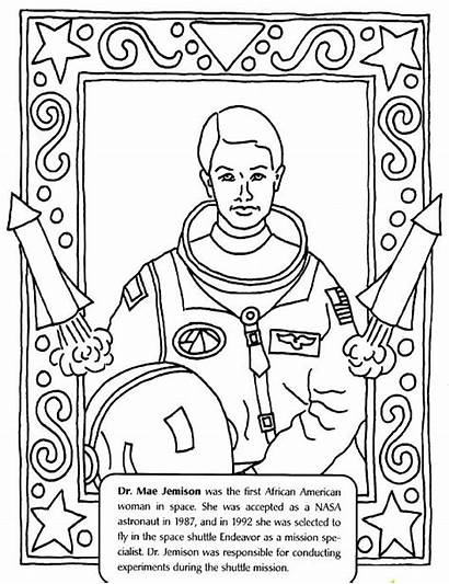 Coloring History Month Pages Mae Jemison Female