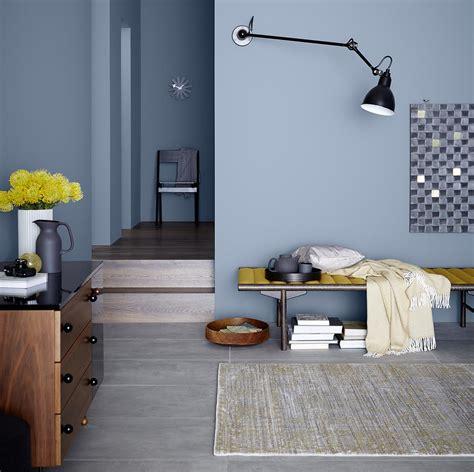 wandfarbe  blau bilder ideen couch