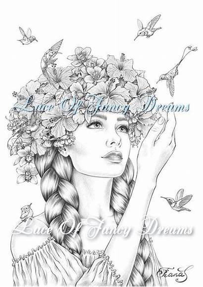 Coloring Exotic Pages Adults Printable Pdf Flowers