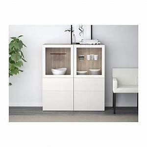 Ikea Besta Griffe : best vitrine grau las nussbaumnachb selsviken hochglanz klarglas wei schubladenschiene ~ Markanthonyermac.com Haus und Dekorationen