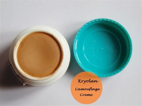 kryolan derma color camouflage creme review  swatch