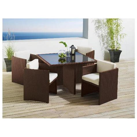 rattan cube 4 seat garden furniture 163 304 20 tesco direct
