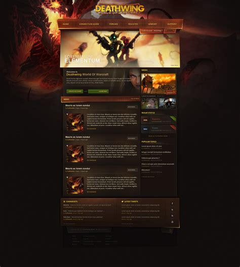 Trintycore Template by Deathwing Wow Webdesign By Evil S On Deviantart