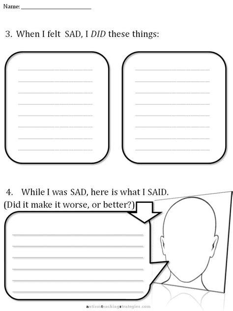 cbt children s emotion worksheet series 7 worksheets for