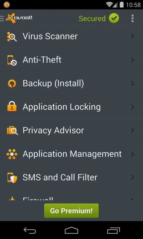 avast mobile security update remove quot your phone has been blocked up quot android virus