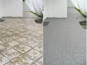 Betonfarbe Außen Terrasse : steinteppich au enbereich ~ Michelbontemps.com Haus und Dekorationen