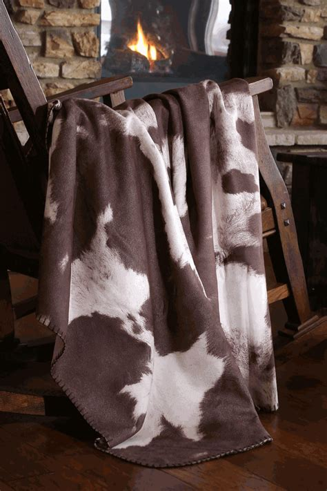 Cowhide Blanket - faux cowhide throw