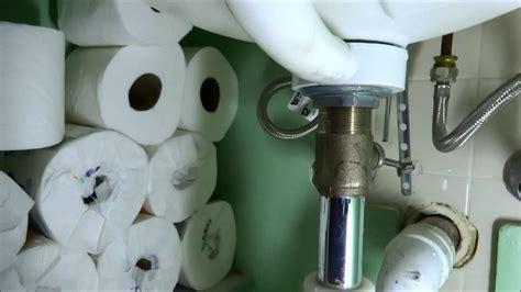 bathroom sink drain leaking youtube