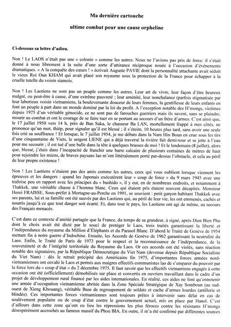 Lettere Di Suicidi by Du Colonel Robert Jambon Laos Hmong Le