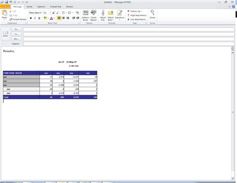 email format exle paste excel cells into outlook email vba how to send