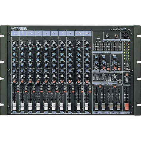 rack mount audio mixer yamaha mv12 6 12 channel rackmount mixer music123