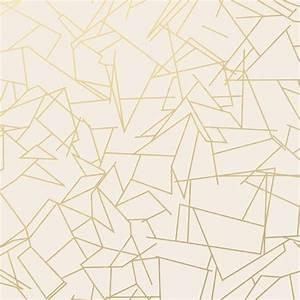 Papier Peint Motif Geometrique : papier peint g om trique blanc angles gold cream erica ~ Dailycaller-alerts.com Idées de Décoration