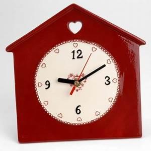 Horloge Murale Rouge : horloge murale d co rouge amadeus coeur de d co ~ Teatrodelosmanantiales.com Idées de Décoration