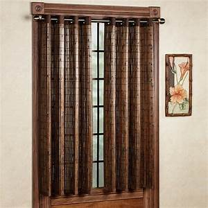 Bamboo grommet window panels for Bamboo window panels
