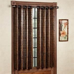 Bamboo grommet window panels for Bamboo window panels