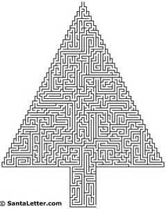 Hard Printable Maze Christmas Tree