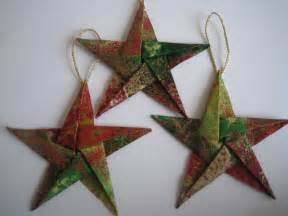 elegant fabric star origami christmas tree ornaments by dmiranda06