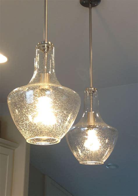 glass pendant lights for kitchen island lighting design ideas seeded glass pendant light clear