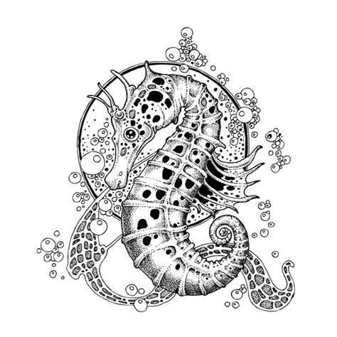 black  white pointillism style illustrations  behance