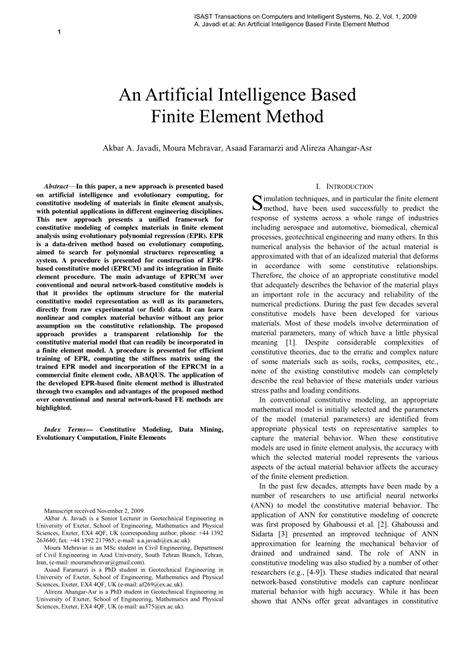 (PDF) An Artificial Intelligence Based Finite Element Method