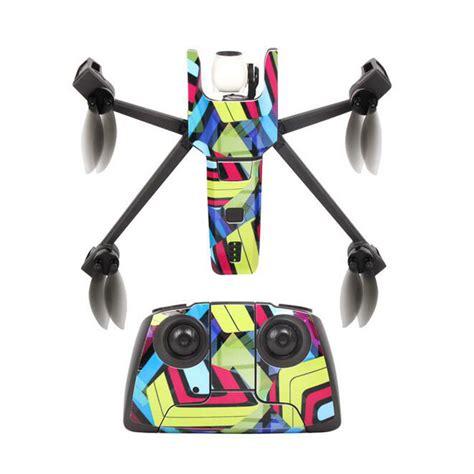 nouveau etanche autocollants diy pvc decal couverture de peau pour parrot anafi drone corps