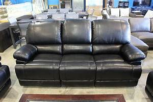 3 piece recliner black leather sofa set sofa love seat for Monaco 4 piece sectional sofa set